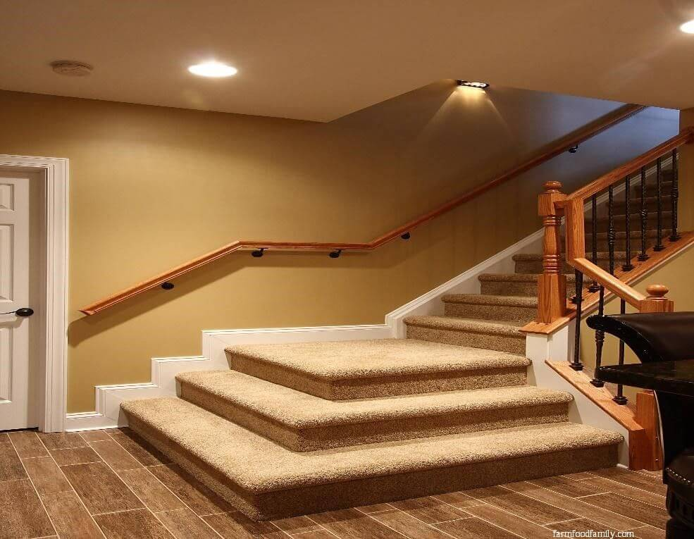 Cushioned stair landing