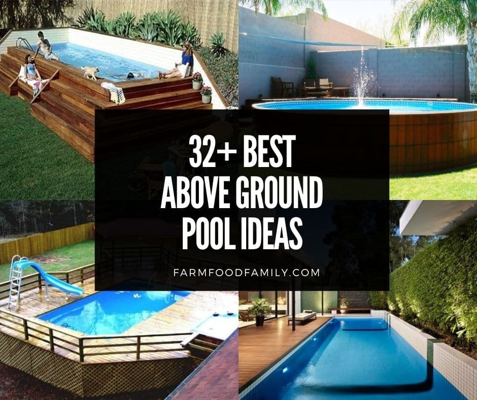 32 Beautiful Above Ground Pool Deck Ideas Designs On A Budget