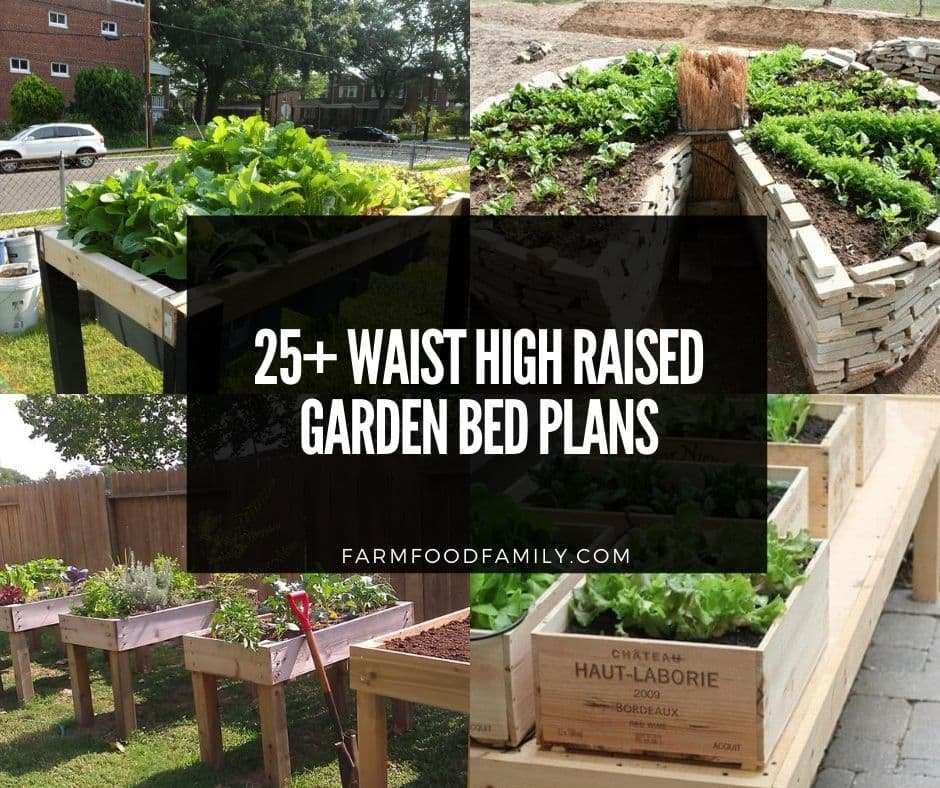 Easy Inexpensive Waist High Raised, How To Make High Raised Garden Beds
