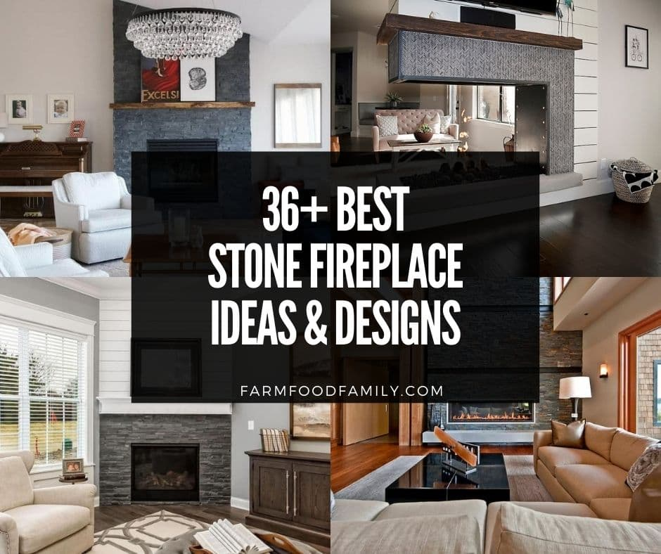 36 Best Stone Fireplace Ideas And Designs With Photos For 2021